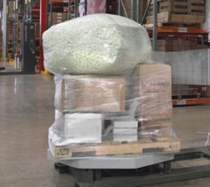 stretch wrap around an irregular load